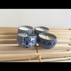 Mini candle set of four